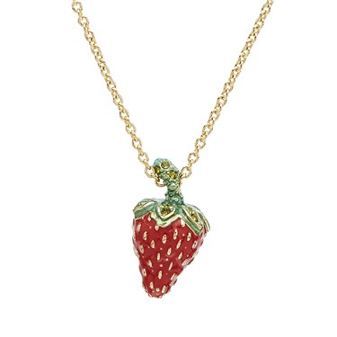 Vivienne Westwood Gold Strawberry Leonela Necklace  - Click to view larger image