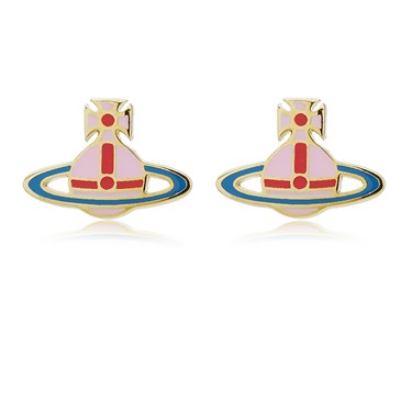 Vivienne Westwood Pink + Blue Kate Earrings   - Click to view larger image