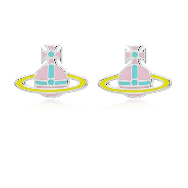 Vivienne Westwood Pink + Yellow Kate Earrings   - Click to view larger image