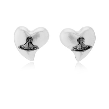 Vivienne Westwood Black Heart Lynette Earrings   - Click to view larger image