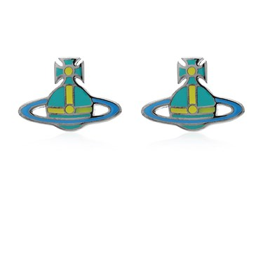 Vivienne Westwood Turquoise + Blue Kate Earrings   - Click to view larger image
