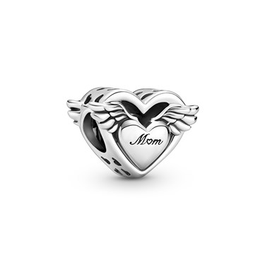 Pandora Angel Wings & Mum Charm  - Click to view larger image