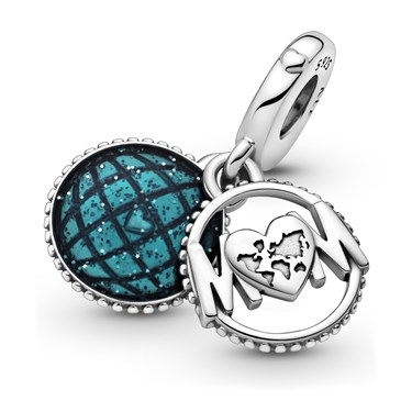Pandora Glitter Globe Mum Dangle Charm  - Click to view larger image
