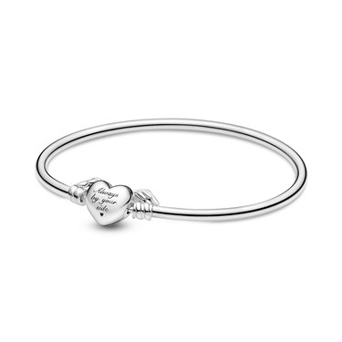Pandora Moments Winged Heart Bangle  - Click to view larger image