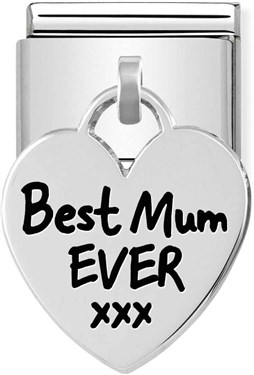 Nomination Silvershine Best Mum Ever Heart Charm  1