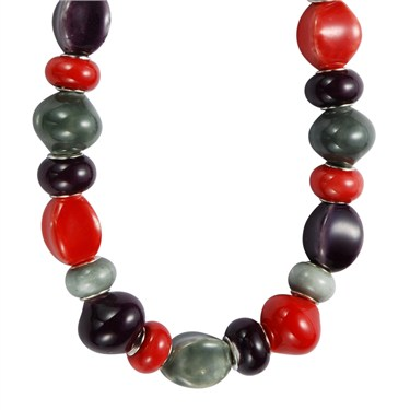 Karma Chunky Red Purple Necklace