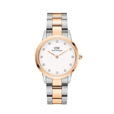 Daniel Wellington Rose Gold Mix Link Lumine 28mm Watch  - Click to view larger image