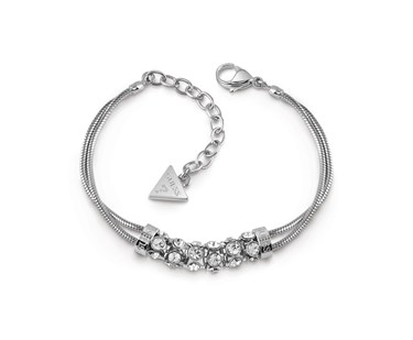 Guess Silver Crystal Double Bracelet  1