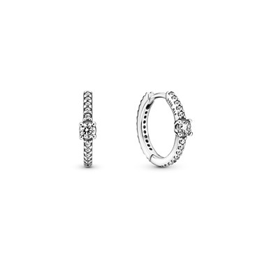 Pandora Sparkling Hoop Earrings 1