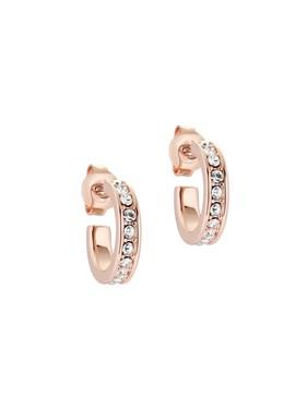 Women's Jewellery Ted Baker Rose Gold Crystal Nano Huggie Earrings