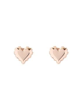 Women's Jewellery Ted Baker Rose Gold Sparkle Heart Earrings