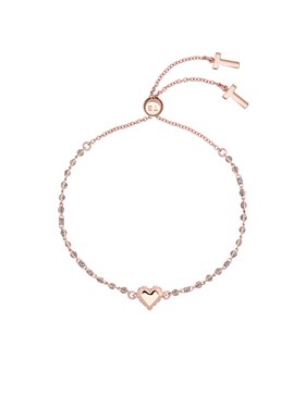 Women's Jewellery Ted Baker Rose Gold Glitter Heart Bracelet