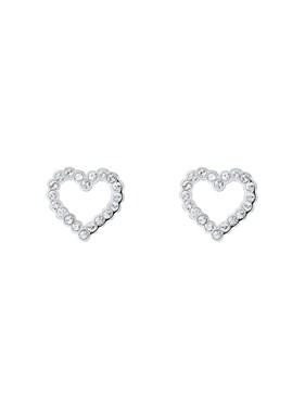 Women's Jewellery Ted Baker Silver Crystal Heart Earrings