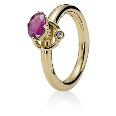 Pandora Orbit Rhodolite Ring