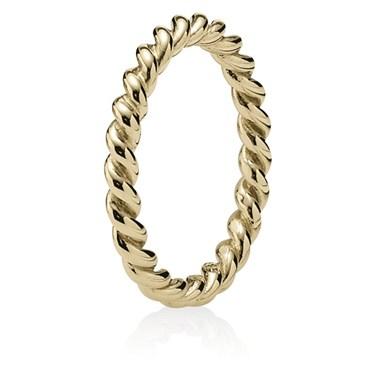 Pandora Gold Twist Ring