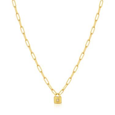 Ania Haie Gold Chunky Chain Padlock Necklace