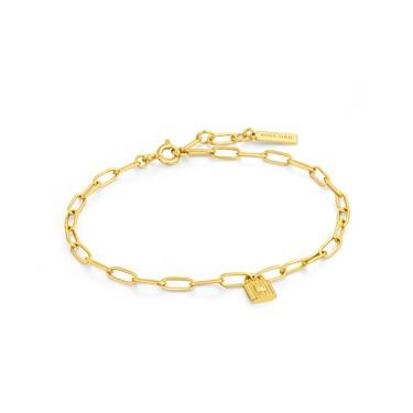 Ania Haie Gold Chunky Chain Padlock Bracelet