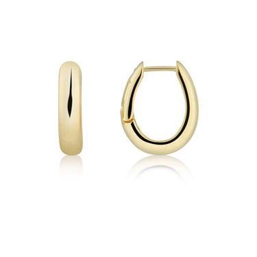 Argento Gold Chunky Hoop Earrings