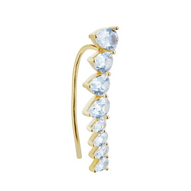 Argento Gold Crystal Climber Single Earring