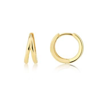 Argento Gold Double Hoop Earrings