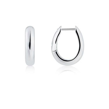 Argento Silver Chunky Hoop Earrings