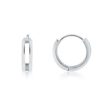Argento Silver Double Hoop Earrings
