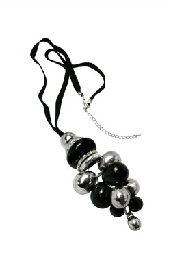 Karma Cluster Bead Drop Necklace