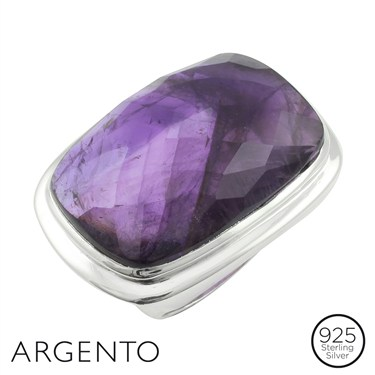 Argento Amethyst Rectangle Ring