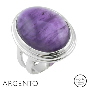 Argento Framed Amethyst Ring