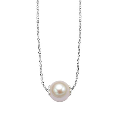 Argento Single Pearl Necklace