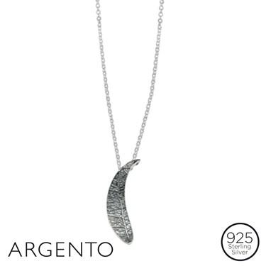 Argento Half Moon Leaf Necklace