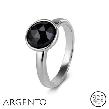 Argento Black Onyx Ring