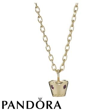 Pandora Crown Sapphire Necklace