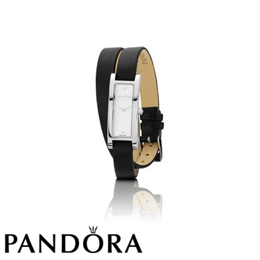 Pandora Double Oblong Silver Tone Watch