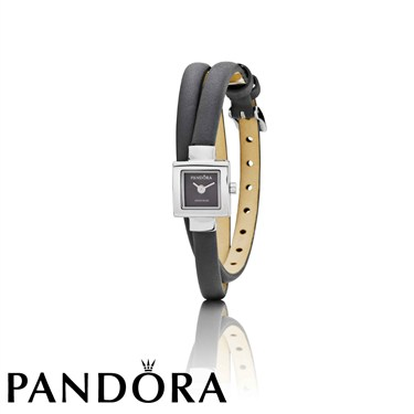 Pandora Petit Square Silver Bezel Watch