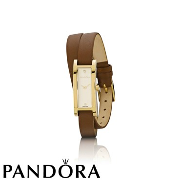 Pandora Double Oblong Gold Watch