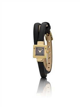 Pandora Petit Square Gold Bezel Watch