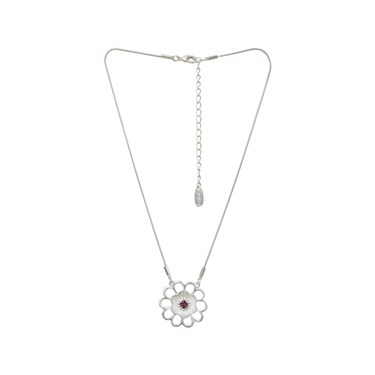 Karma Pink Flower Necklace