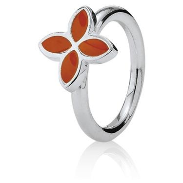 Pandora 4 Petal Power Ring - Orange