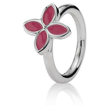 Pandora 4 Petal Power Ring - Pink