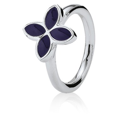 Pandora 4 Petal Power Ring - Violet