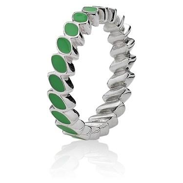 Pandora Leaf Band Ring - Green