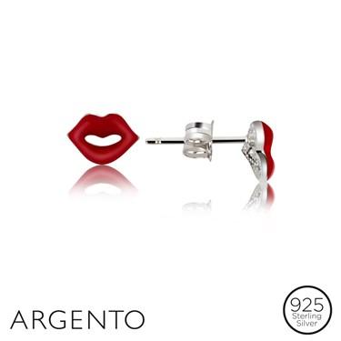 Argento Red Lips Stud Earrings