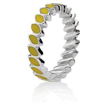 Pandora Leaf Band Ring - Yellow