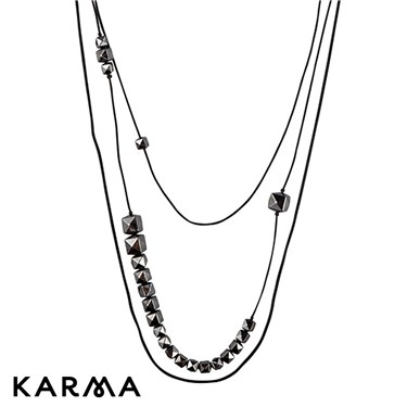 Karma Long Stud Chain Necklace