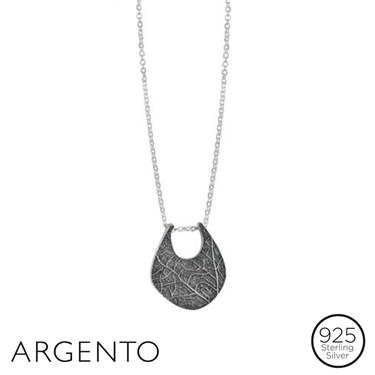 Argento Leaf print Pendant Necklace