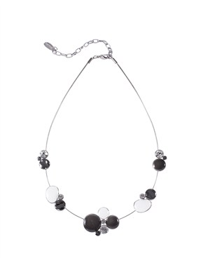 Karma Grey Beads Cluster Necklace
