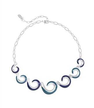 Karma Cascading Swirl Necklace