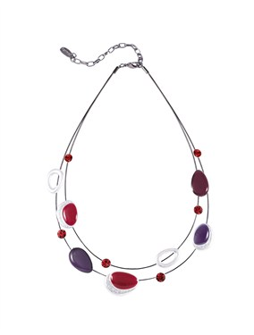 Karma Oval Enamel Stone Necklace