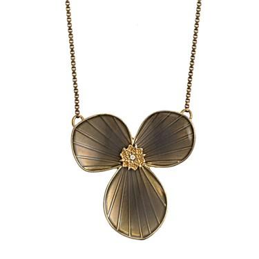 PILGRIM Bronze Star Flower Necklace